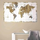 ArtPoster Gold Map